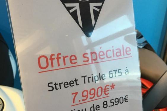 Offre spéciale Street Triple